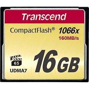 Transcend Overskride ultimate 1066x CompactFlash-kort 16 GB