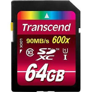 Transcend Overskride Ultimate SDXC kort 64 GB klasse 10, UHS-jeg