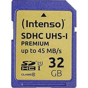 Intenso Premium SDHC card 32 GB klasse 10, UHS-jeg