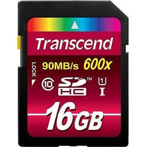 Transcend Overskride Ultimate SDHC card 16 GB klasse 10, UHS-jeg