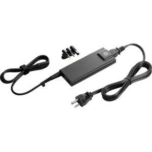 HP 90W Slim Nätadapter, kompakt, 3 tips, USB-laddning, svart