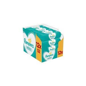 Pampers Sensitive 81687211, Vådservietter til baby, Dermatologisk testet, Allergivenlig, Neutral pH, Parfumefri, 1 parbenfri