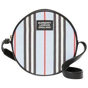 Burberry Iconic Stripe Tambourine Väska Pale Blue Handväskor