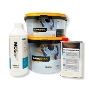 Basebeton Microcement Bordplade Set