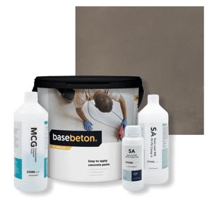 Basebeton Microcement Gulv Set -  10kg,  Berry