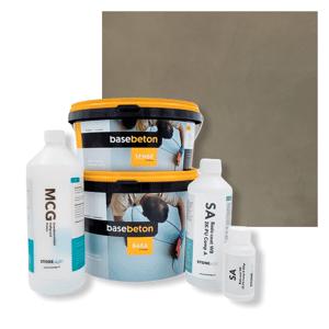 Basebeton Microcement Komplet Set 30kvm -  Mat,  Canvas