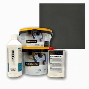 Basebeton Microcement Bordplade Set -  Lava