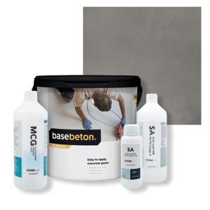 Basebeton Microcement Gulv Set -  5kg,  Mouse