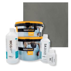 Basebeton Microcement Komplet Set 30kvm -  Mat,  Smoke