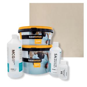 Basebeton Microcement Komplet Set 30kvm -  Mat,  Wheat