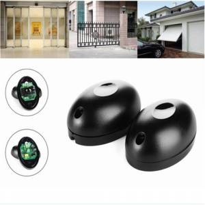 Beam 1pair 20m Single Beam Alarm Photoelectric Infrared Detector Security System Door Sensor Barrier Detector for Gate Door Window