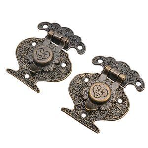 Antique 2 Sets Antique Jewelry Box Lock Furniture Cabinet Drawer Cupboard Box Lock Metal Craft Latch Lock Tool Hardware Accessories