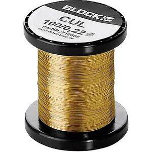 Block Blokker emaljebelagt kobbertråd Utvendig diameter (inkl. belegg)=0,22 mm 285 m 0,10 kg