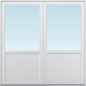 SP Fönster Altandörr Balans  1880x1880/1180mm vänster par alu 3-glas linjerar fast   (19x19)