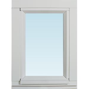 Sp Fönster Fönster Stabil 280x380mm Fast Målad 3-Glas  (3x4)