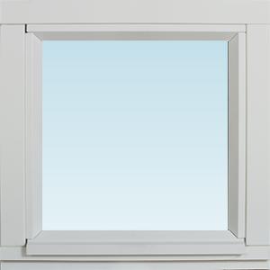 SP Fönster Fönster Stabil 380x380mm fast målad 3-glas  (4x4)