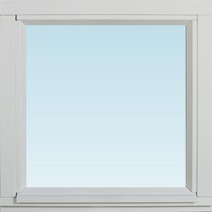 SP Fönster Fönster Stabil 480x480mm fast målad 3-glas  (5x5)
