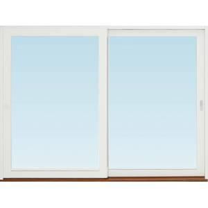 SP Fönster Skjutdörr A trä  2780x2090mm vänster 3-glas härdat in och utsida (28x21)