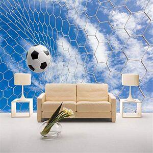CXKNB Väggmålningar Väggmålning Tapet Bakgrund 3D visuell sport fotboll tema dekorativa väggmålningar TV bakgrund vägg KTV bar fotbollsklubb tapeter-Om 350 X 245cm