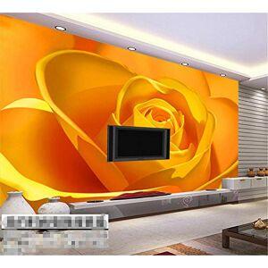 CXKNB Väggmålningar Väggmålning Tapeter Tapeter 3d präglade tapeter foto sovrum säng bakgrund bakgrund tapeter dekoration vardagsrum TV vägg gul ros färsk blomma-Ca 150 X 105cm