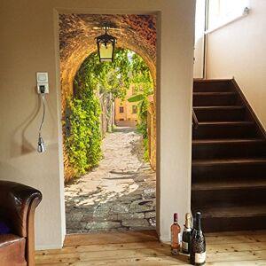 murimage dörr tapet gas 86 x 200 cm inklusive klistra romantisk lykta toskana medelhavs semester Italien spanien foto tapet