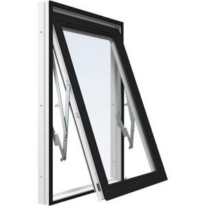 Vridfönster Energi Aluminium 13, 15, Svart