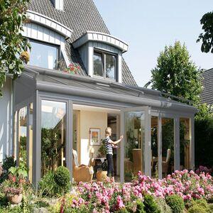 Vikvägg för fasad från Solarlux Vikvägg SL67 i aluminium Antracitgrå, Utvändigt låsbart handtag, Inåt