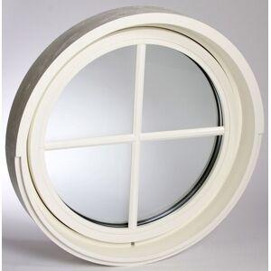 Dala Dörren Fönster runt diam 980mm inåt vit 3-glas (10x0)