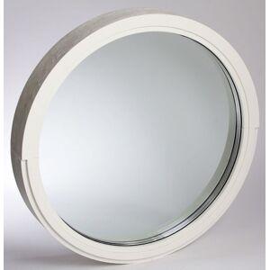 Dala Dörren Fönster runt diam 780mm fast vit 3-glas (8x0)