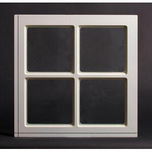 Dala Dörren Dekorfönster Fyrkant utvändigt  spröjs 590x590mm vit enkelglas
