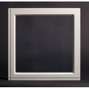 Dala Dörren Dekorfönster Fyrkant utvändigt  690x690mm vit enkelglas
