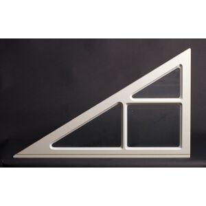 Dala Dörren Dekorfönster Gavelfönster utvändigt  890x534mm,vänster 31grader vit enkelglas, spröjs