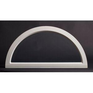 Dala Dörren Dekorfönster Halvmåne helglas utvändigt 790x395mm vit enkelglas