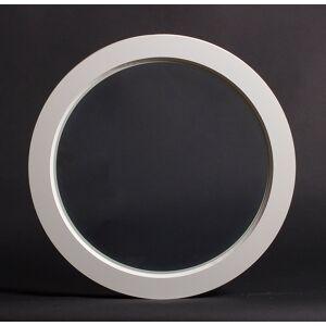 Dala Dörren Dekorfönster Rund Utvändigt  990mm Vit Enkelglas (10x0)