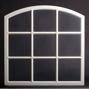 Dala Dörren Dekorfönster Stallfönster utvändigt  1190x1190mm vit enkelglas, spröjs