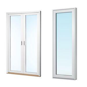 Traryd fönster Altandörr Intakt 1680x2280mm höger alu par helglas utåt 2+1 glas, härdad in och utsida