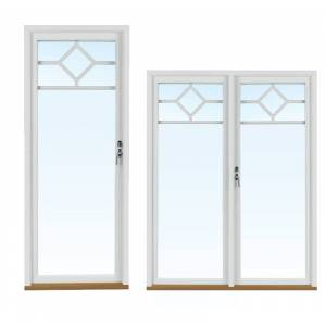 Traryd fönster Altandörr Lingbo 1980x1880mm vänster utåt par helglas 2+1, härdad in och utsida