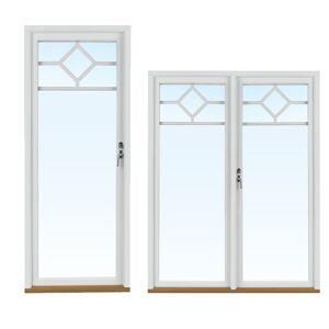 Traryd fönster Altandörr Lingbo 1380x2280mm vänster utåt par helglas 2+1, härdad in och utsida