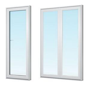 Traryd fönster Altandörr Optimal 1980x1980mm vänster alu par helglas utåt 3-glas isoler, härdad in och utsida