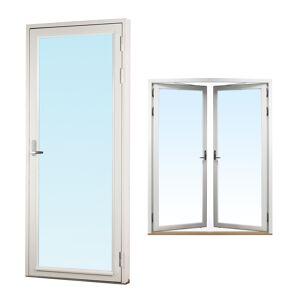 Traryd fönster Altandörr Genuin 1580x2080mm vänster par helglas 3-glas, härdad in och utsida