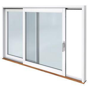 Traryd fönster Skjutdörr A trä  2480x2290mm höger 3-glas härdat in och utsida