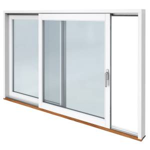 Traryd fönster Skjutdörr A alu  3880x1890mm vänster 3-glas härdat in och utsida