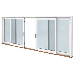 SP Fönster Skjutdörr C trä  4180x1890mm 3-glas härdat in och utsida (42x19)