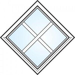 Dörrtema Fönster 3-glas energi argon fyrkant med spröjs nr 1 Modul 7x7