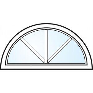 Dörrtema Fönster 3-glas energi argon halvmåne med spröjs vitmålat aluminium öppningsbart Modul 12x6