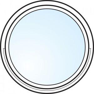 Dörrtema Fönster 3-glas energi argon rund vitmålat Modul diameter 5