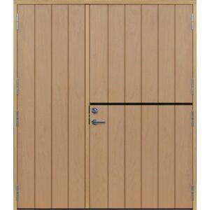 Dörrtema Parhästdörr exklusiv bred stående spårning Modul 18x21