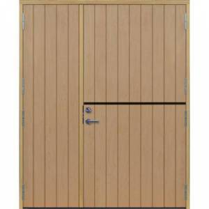 Dörrtema Parhästdörr exklusiv tät stående spårning Modul 19x21