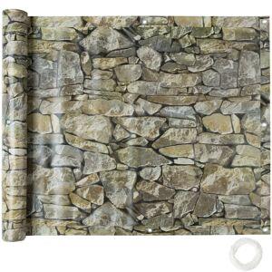 tectake Læsejl til altan, 1. version - sten-look, 90 cm