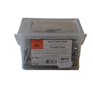 Terasseskrue 4,8x75 TX 20 A4 250Stk.
